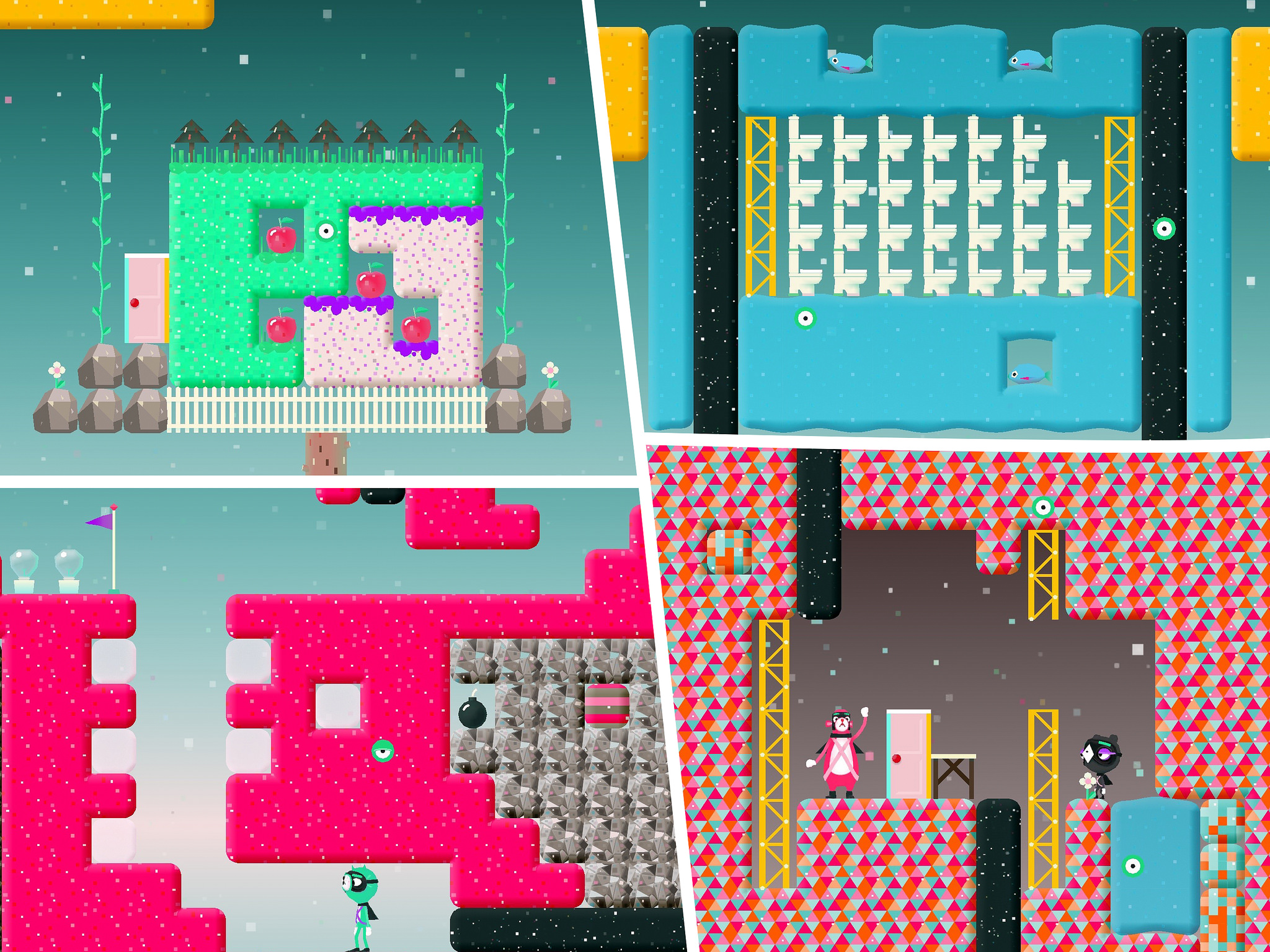 Yes, Toca Blocks has toilets (and something that looks like poo).
