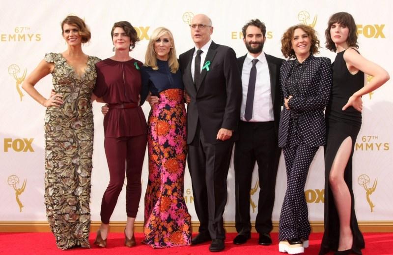 Jeffrey Tambor & the rest of the Transparent cast: Emmy's, 2015