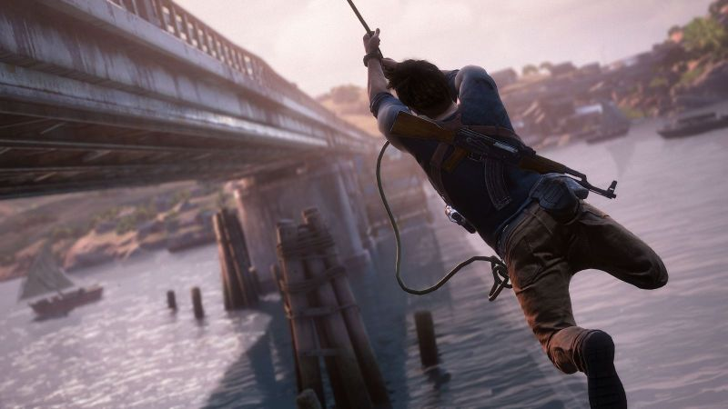 Swinging into 2016! Get it? Uncharted 4: A Thief's End