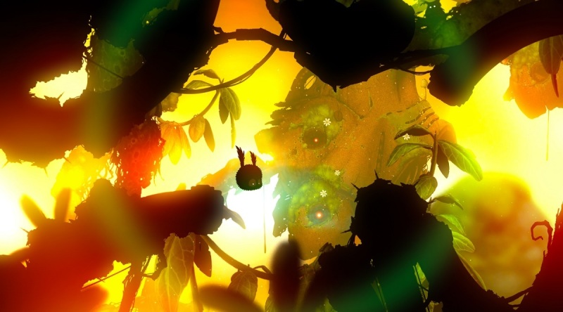 Flying around in Badland 2.