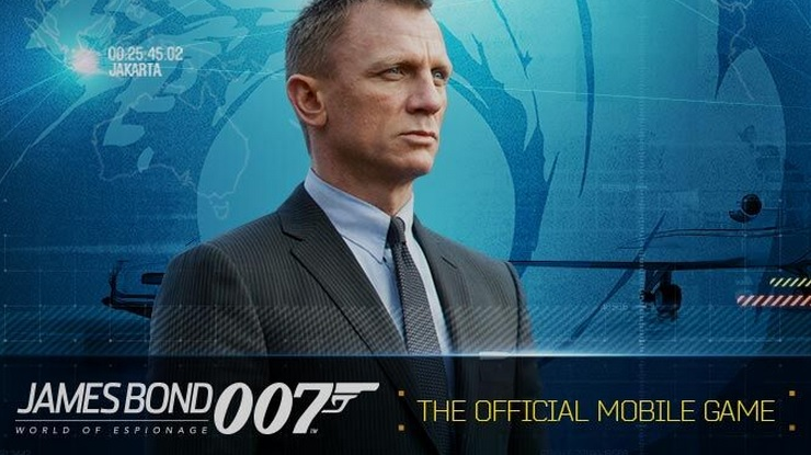 Glu's 007 mobile game is James Bond: World of Espionage.