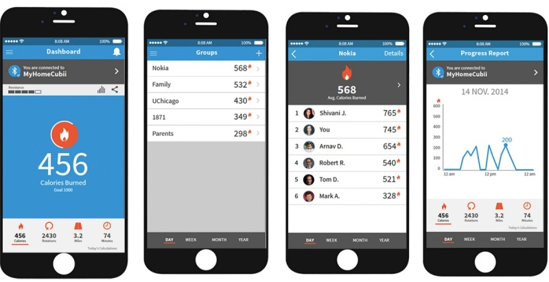 The Cubii app logs your calories burned and distance traveled.
