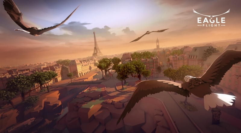 Eagle Flight from Ubisoft will let you fly in VR over the city of Paris in the future.