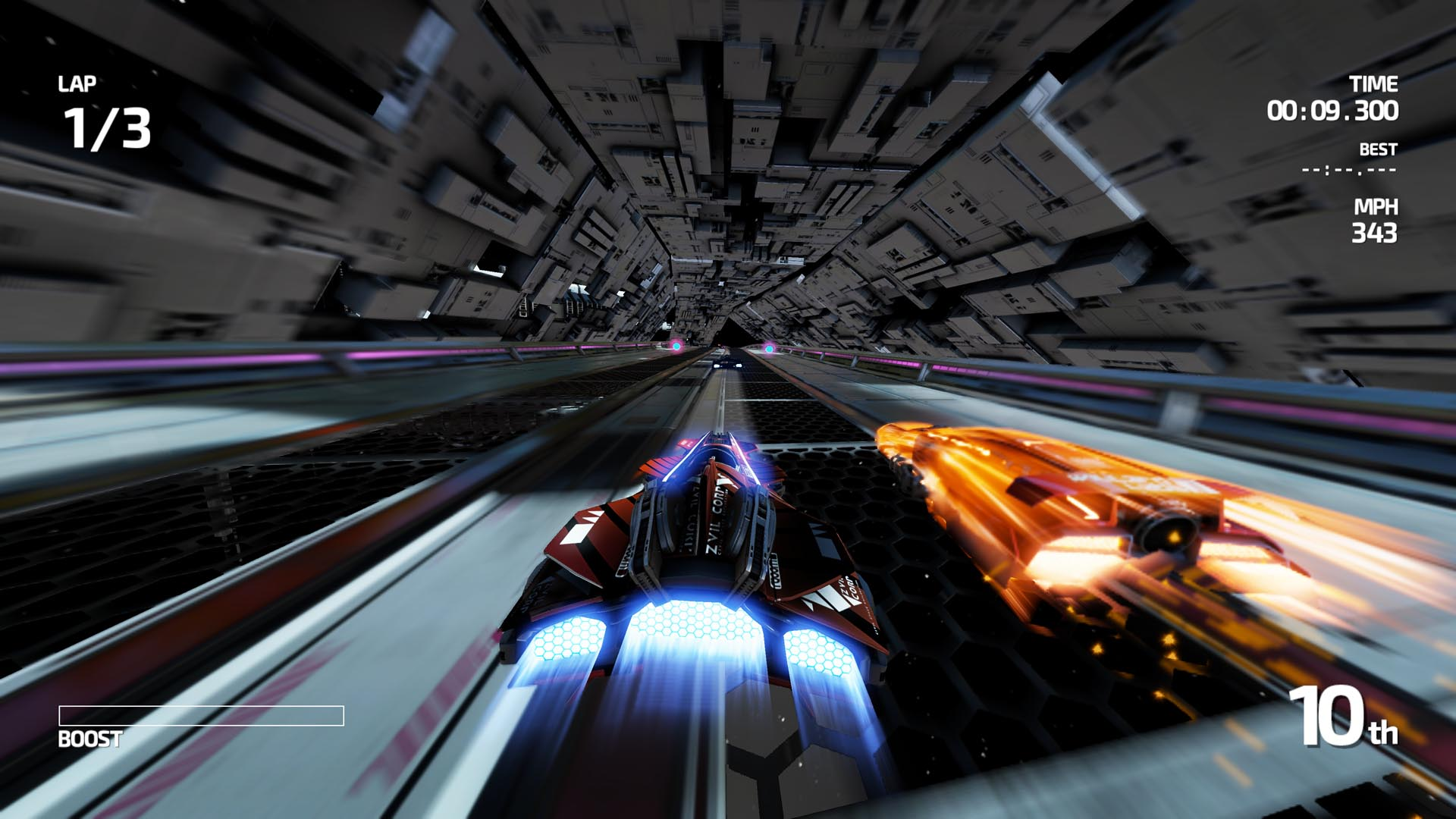 Fast Racing Neo is pretty and detailed for a Wii U game running at 60 frames per second.