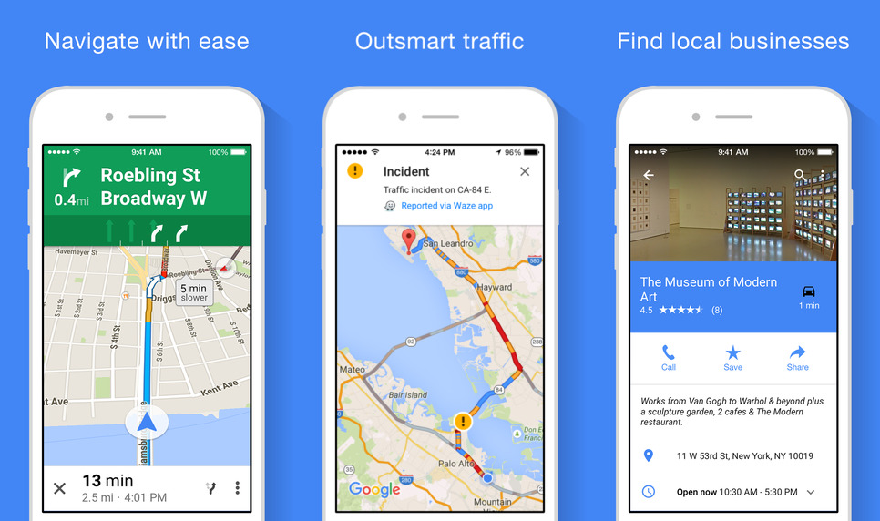 Google Maps for iOS gets offline navigation, por ... on starbucks date, search by date, salesforce date, iphone date, magazine date,