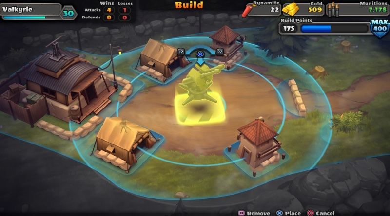 Guns Up! lets you set up base defense to get the best results when you are attacked.