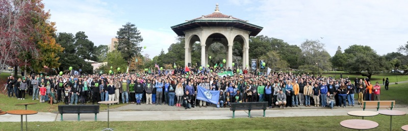 The crowd at the Ingress event in Oakland, Calif., last weekend.
