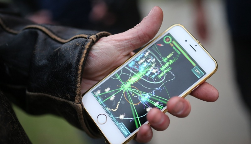 Ingress mobile game pits two factions against each other.