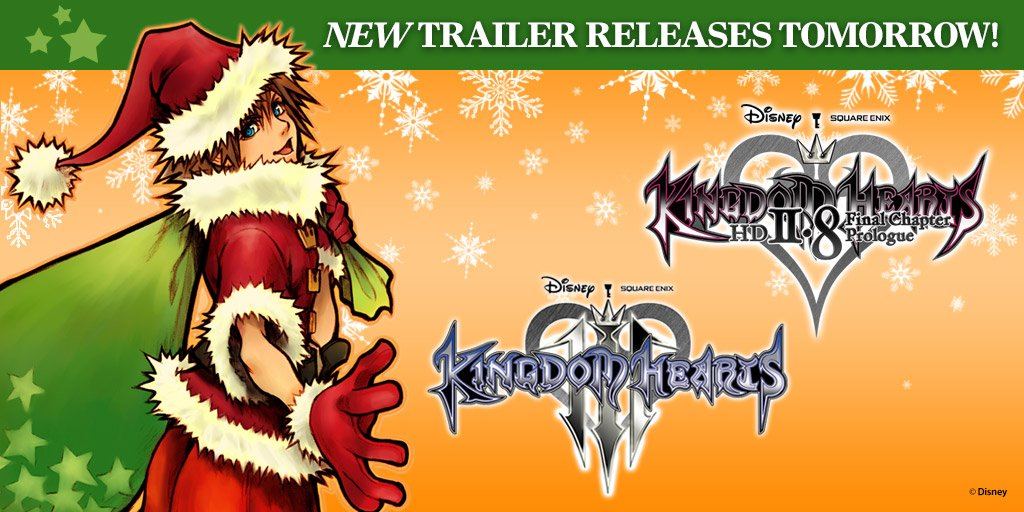 New Kingdom Hearts III and II.8 trailers coming tomorrow