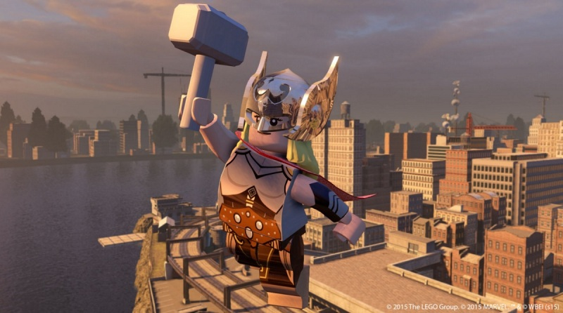 "Lego Marvel's Avenger takes place in New York and seven other ""hubs."""