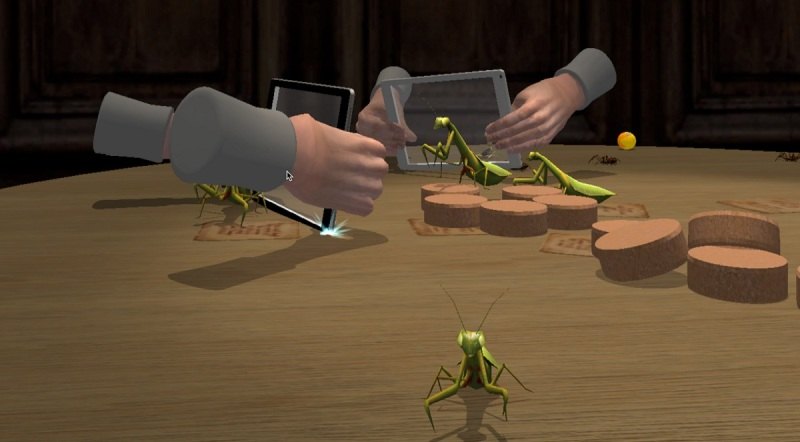 Pantomime lets you use multiple screens to interact with a virtual space.