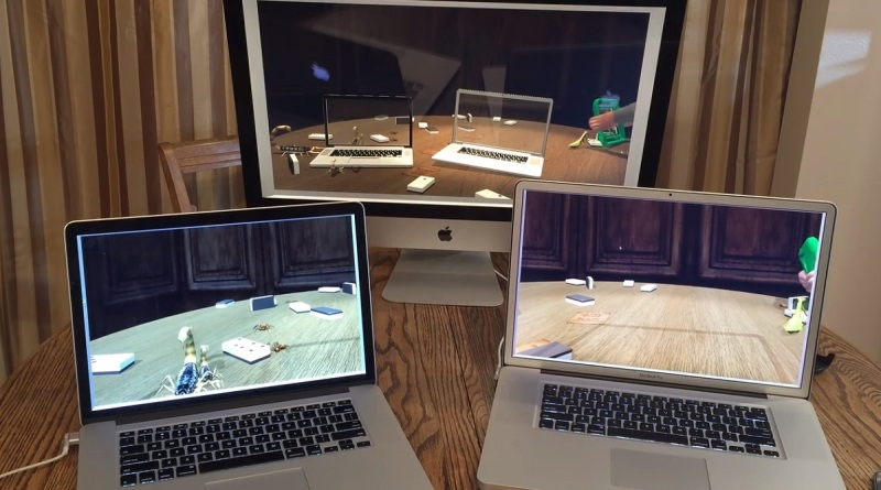 Pantomime lets you set up multiple computers that have their own view of the same 3D space.