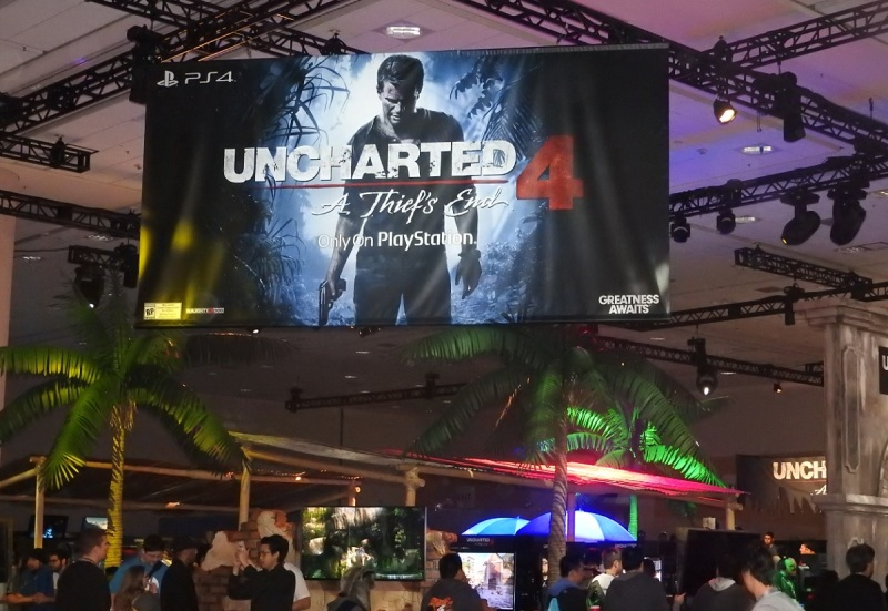 The Uncharted 4 booth at PSX was always crowded.