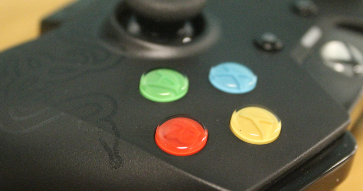Razer Wildcat Xbox One controller face buttons