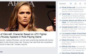 Ronda Rousey in Warcraft