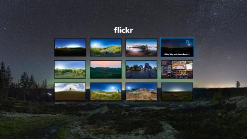 Flickr VR screenshot