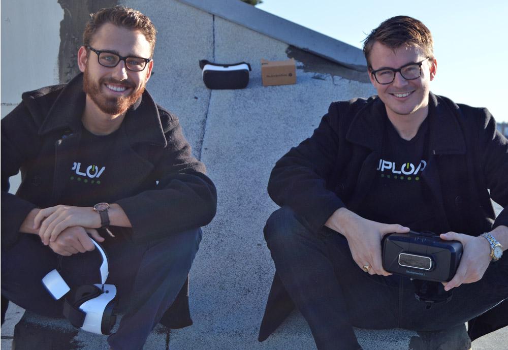 Taylor Freeman (left) and Will Mason of UploadVR