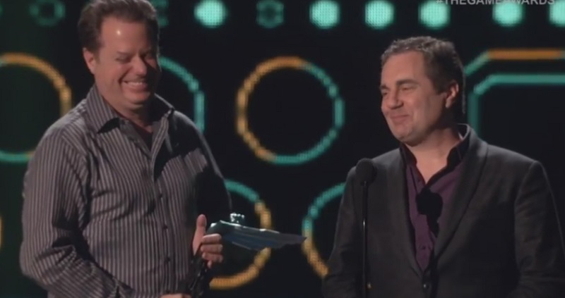 Louis Castle and Brett Sperry, founders of Westwood Studios, at The Game Awards.