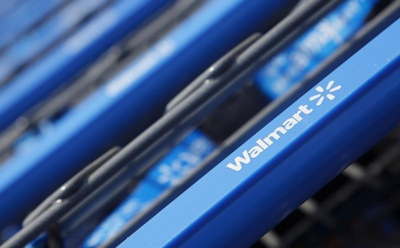 Shopping carts are seen outside a new Walmart Express store in Chicago July 26, 2011.