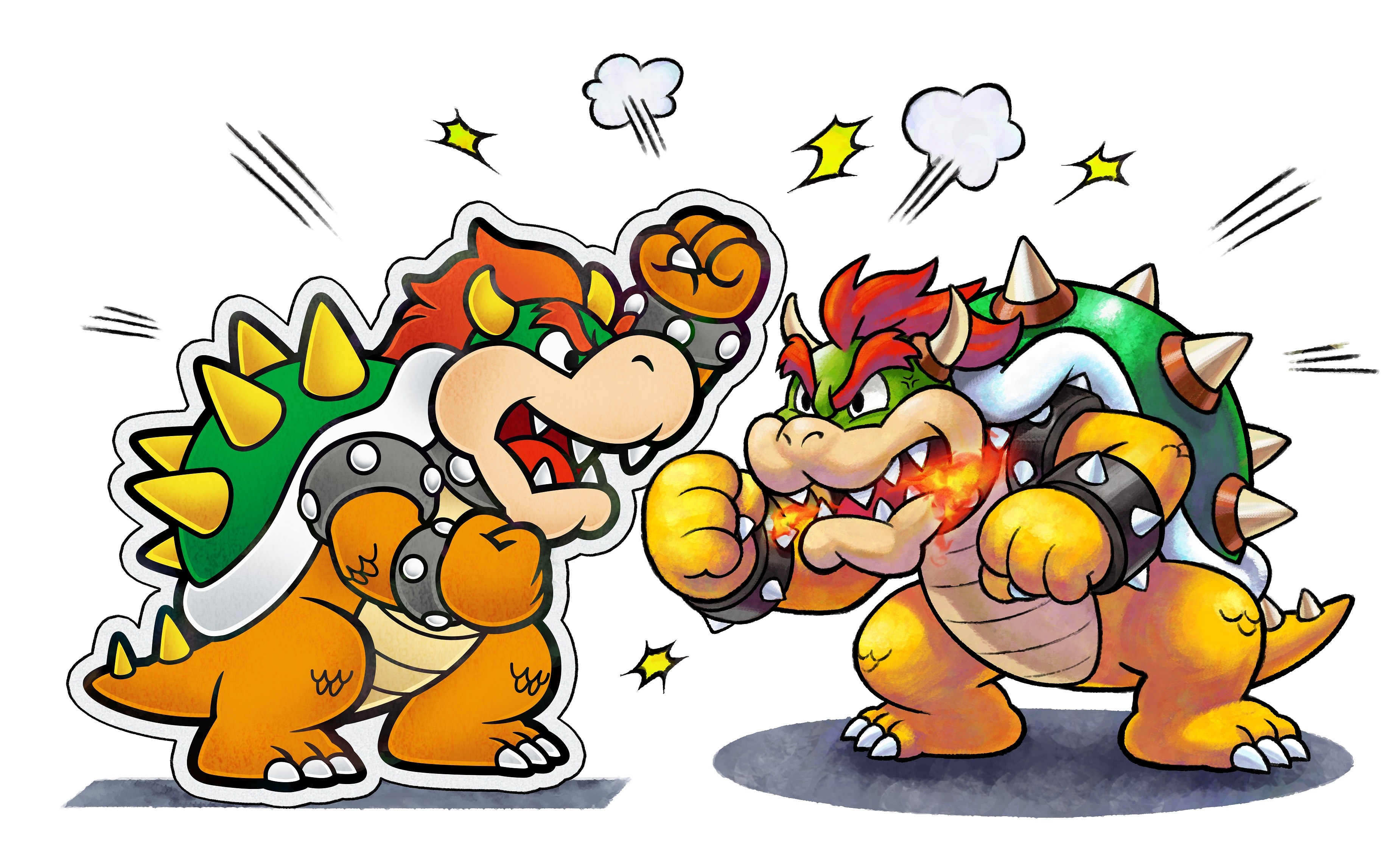 Bower meet...Paper Bowser. Get ready for these two to fight...a bunch