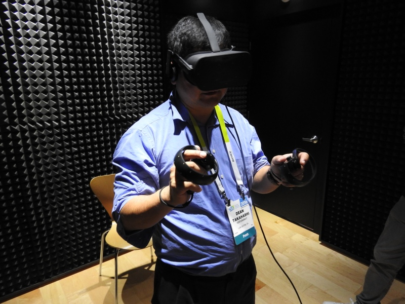I demoed the Oculus Rift once again at CES 2016. The Medium app was amazing.