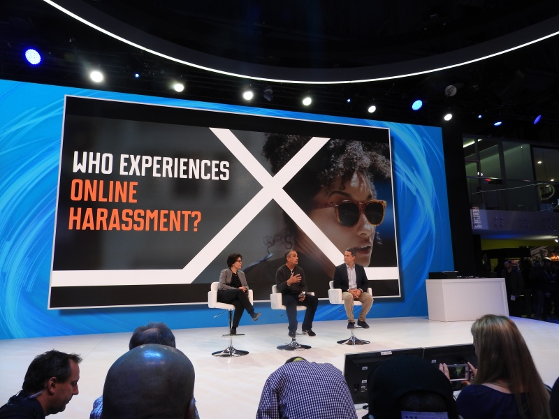 Anti-online harassment session at CES 2016