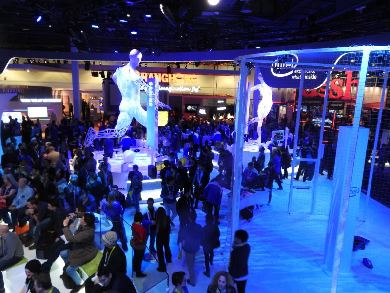 Intel's booth at CES 2016.