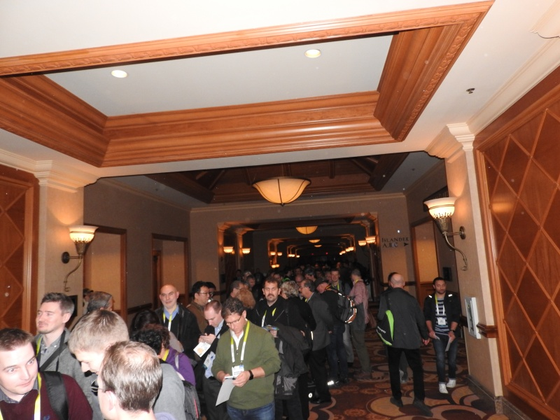 The line for CES Unveiled party.