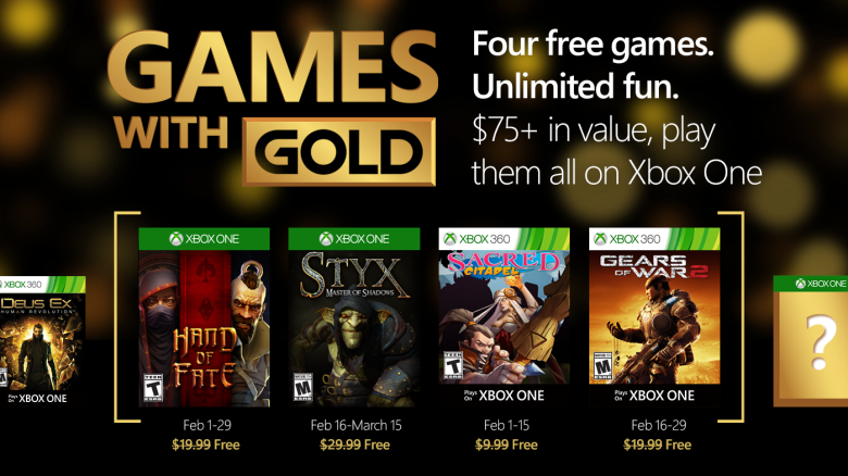 The Games With Gold lineup for February.
