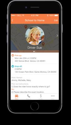 HopSkipDrive Mobile App 1