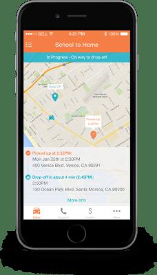 HopSkipDrive Mobile App 2