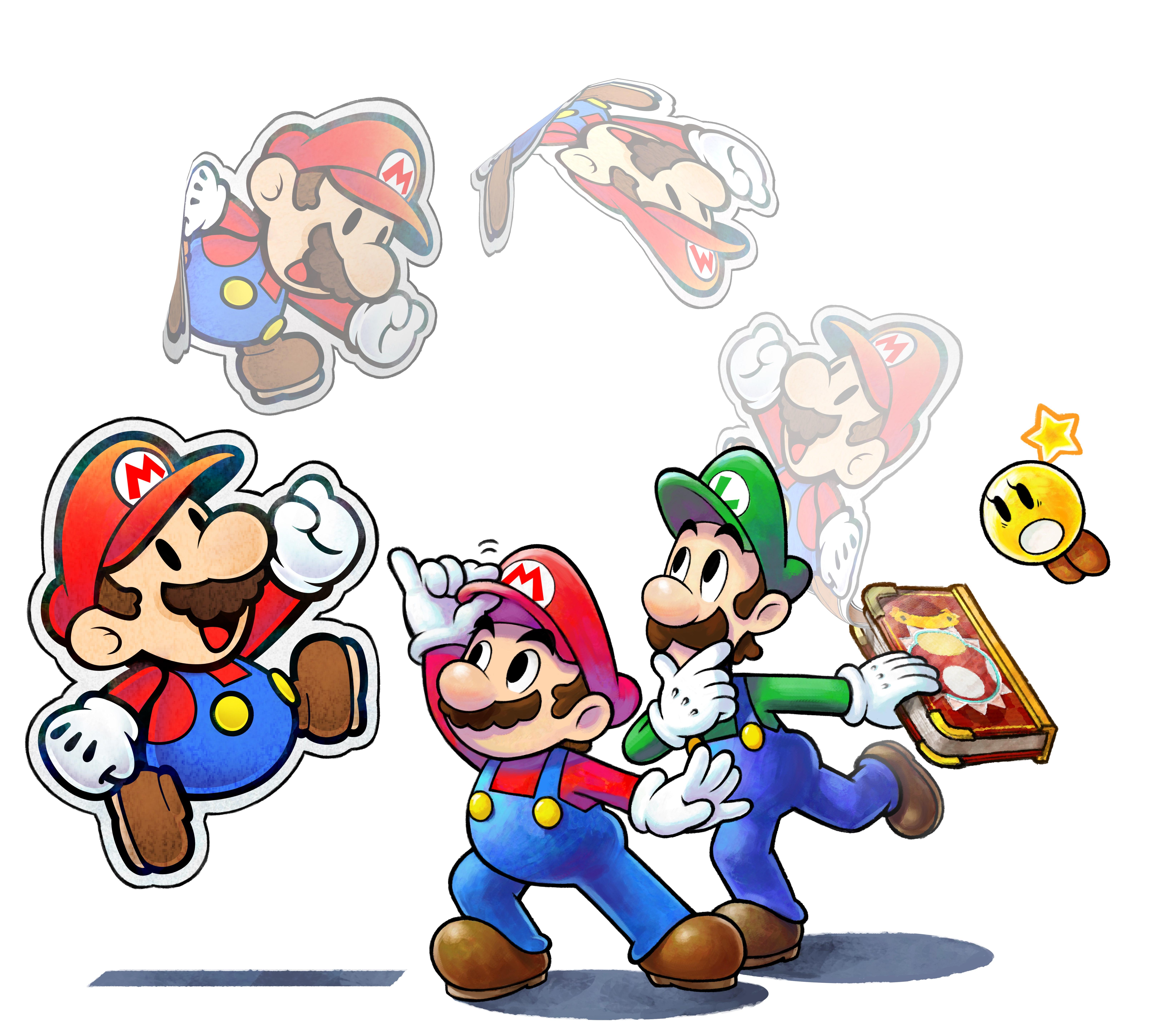 Mario Luigi Paper Jam S Two Flavors Jell Into A Sloppy Sandwich