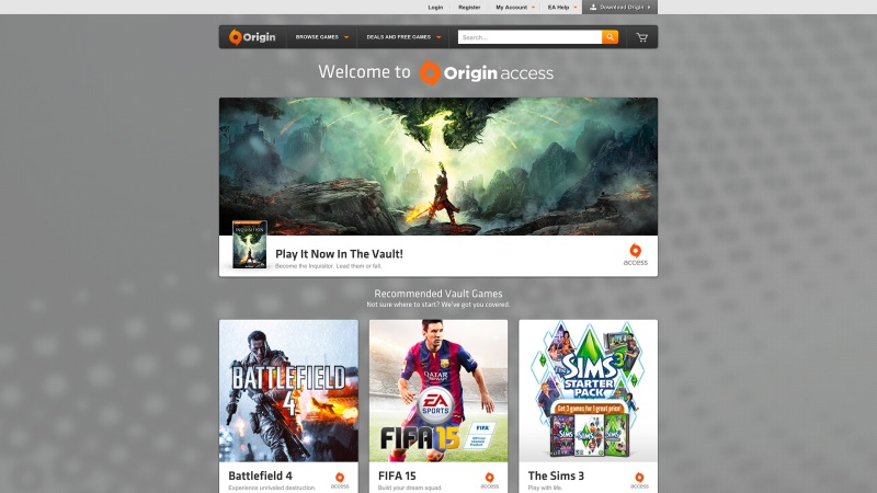 EA launches Origin Access today -- $5 for its Netflix of