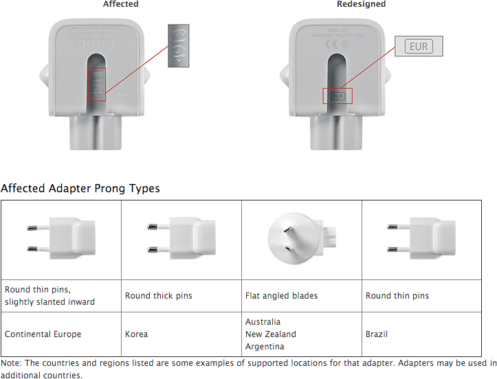 Should you exchange your Apple AC wall plug adapter?  How to tell.
