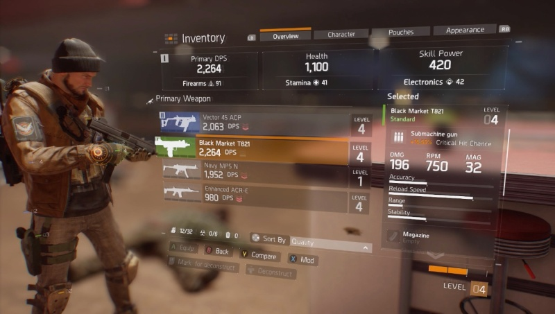 The Division: DPS weapons