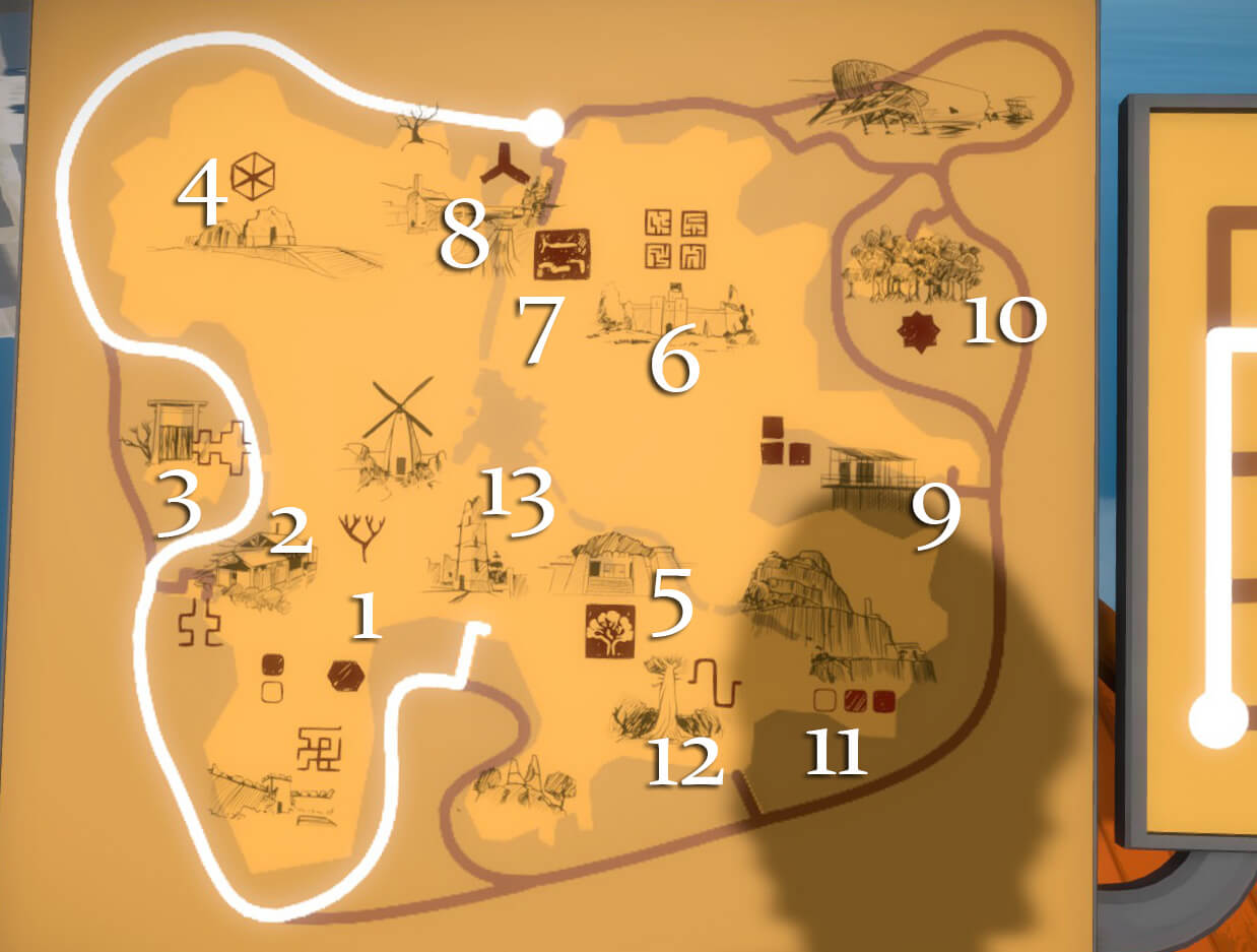 The Witness map key new