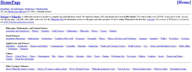 Wikipedia 2001