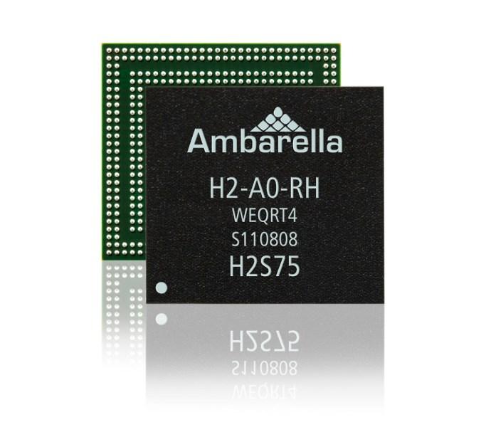 Ambarella's H2 camera chip for high-end drones.