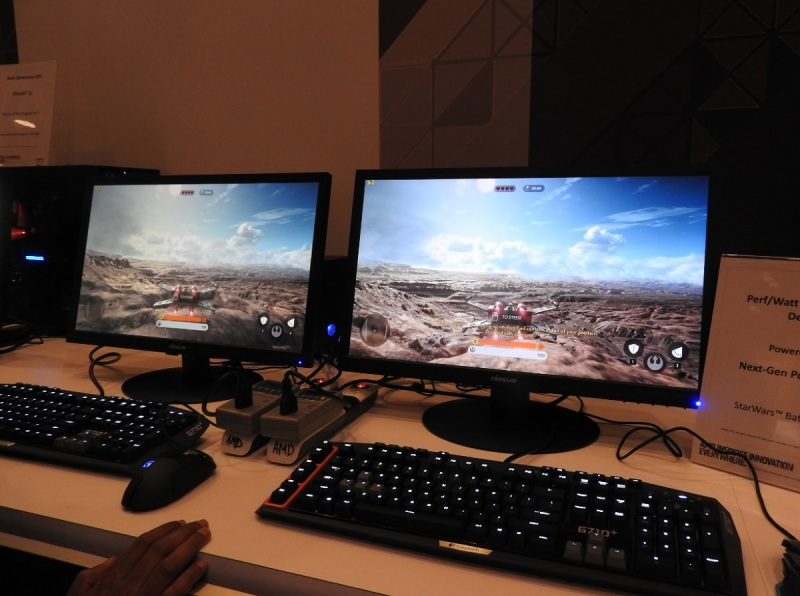 4K displays at CES 2016 in AMD booth.