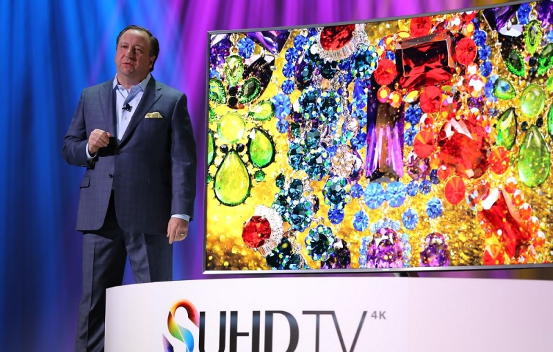 Samsung TV at CES 2015.