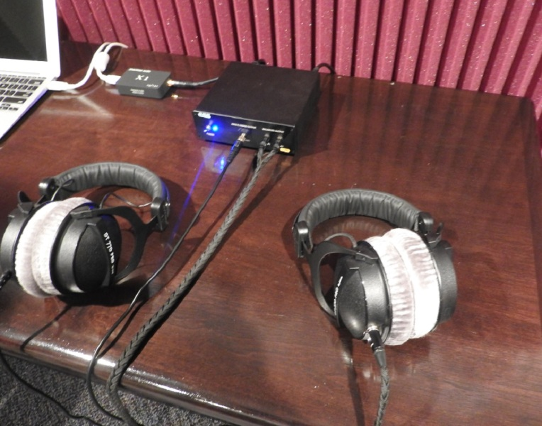 I listened to these headphones with ESS's technology. The audio quality was awesome.