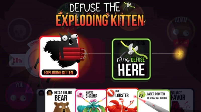 Uh oh. Time to use a defuse card in Exploding Kittens.