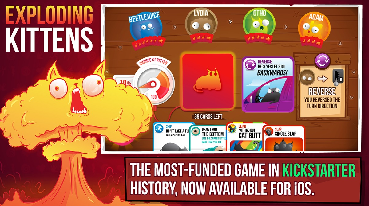 Exploding Kittens Doesn T Have Enough Bang As A Mobile Game Yet Venturebeat
