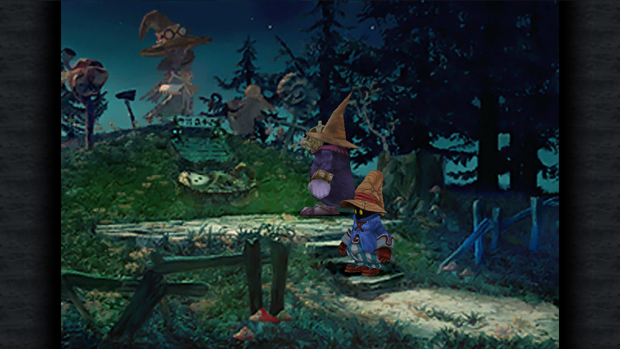 A moving scene from Final Fantasy IX.
