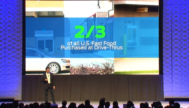 Ford CEO Mark Fields has stats on how the roads are getting more congested.