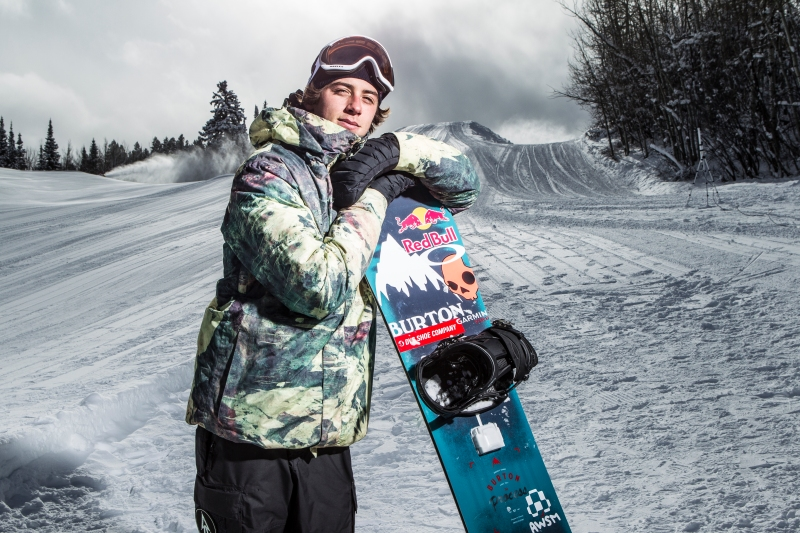 Snowboarder Mark McMorris has an Intel Curie module on his board.