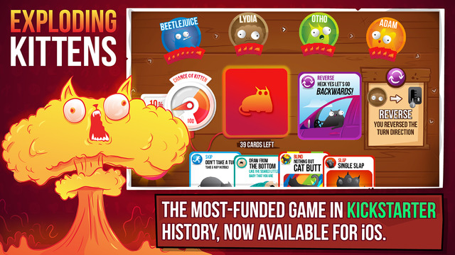 Exploding Kittens on mobile