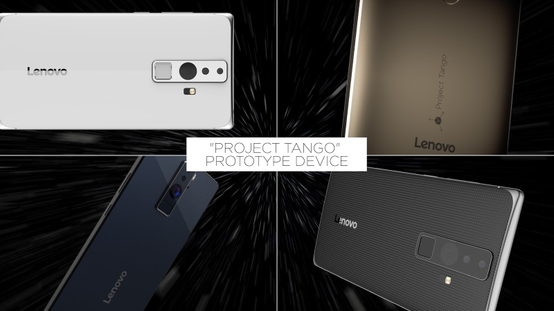 A Lenovo smartphone model that uses Google's Project Tango.
