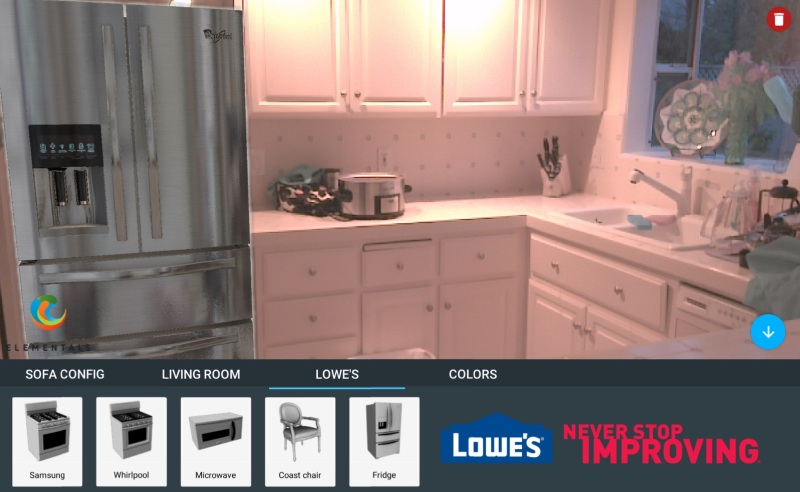 Lowes Project Tango app