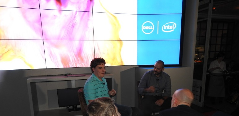 Oculus VR's Palmer Luckey and Dell's Frank Azor.